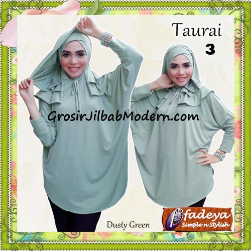 Jilbab Lengan Tanpa Pet Cantik Taurai Original By Fadeya No 3 Dusty Green