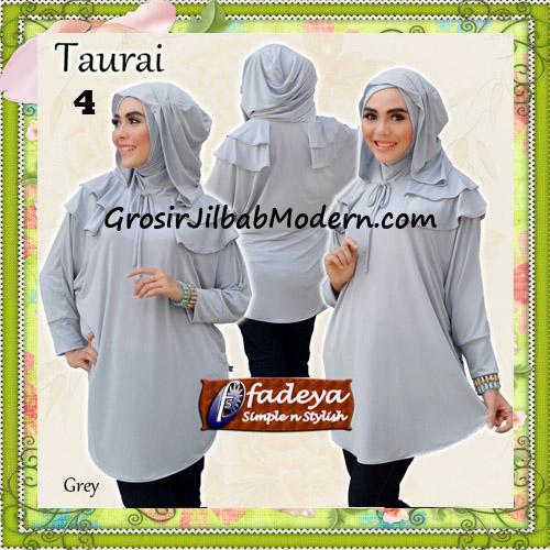 Jilbab Lengan Tanpa Pet Cantik Taurai Original By Fadeya No 4 Grey