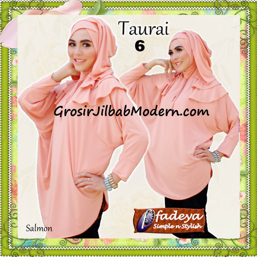 Jilbab Lengan Tanpa Pet Cantik Taurai Original By Fadeya No 6 Salmon