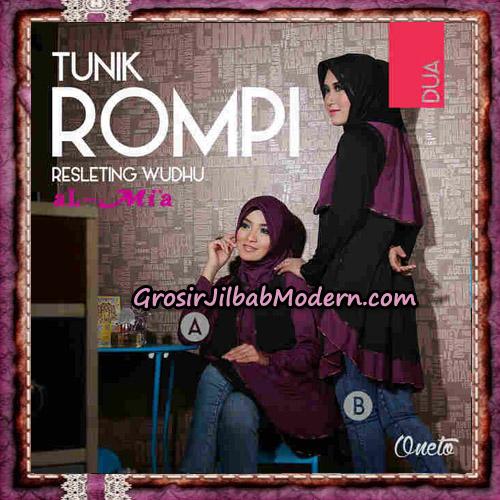 Jilbab Lengan Tunik Rompi Resleting Wudhu Original By Al-Mi'a Brand No 2A -2B