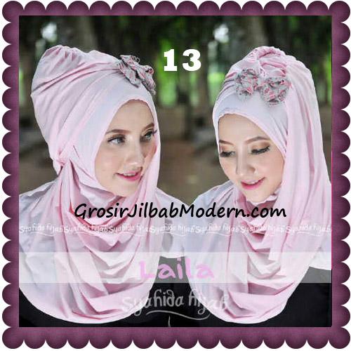 Jilbab Modern Pashmina Instan Laila Cantik Original by Syahida No 13