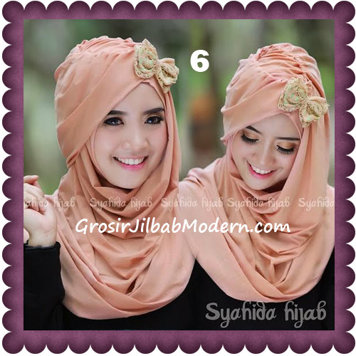 Jilbab Modern Pashmina Instan Laila Cantik Original by Syahida No 6