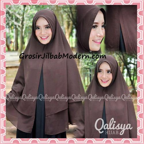 Jilbab Pashmina Khimar Lipit Cantik Original Qalisya Brand - Detail