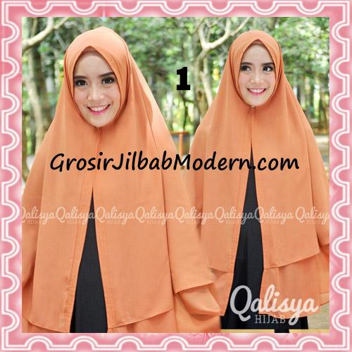 Jilbab Pashmina Khimar Lipit Cantik Original Qalisya Brand No 1 Bata