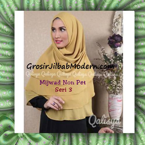 Jilbab Syar'i Khimar Mijwad Non Pet Seri 3 Original Qalisya Brand