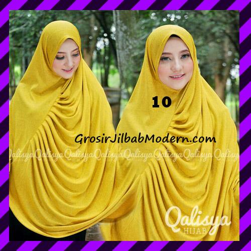 Jilbab Syar'i Khimar Rafa Non Pet Jacquard Original Qalisya Brand No 10