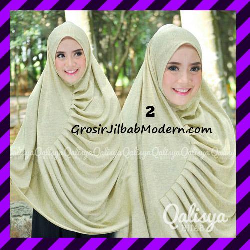 Jilbab Syar'i Khimar Rafa Non Pet Jacquard Original Qalisya Brand No 2