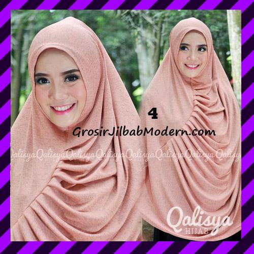 Jilbab Syar'i Khimar Rafa Non Pet Jacquard Original Qalisya Brand No 4
