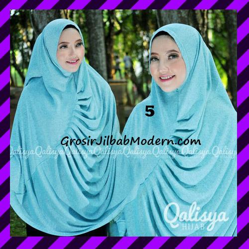 Jilbab Syar'i Khimar Rafa Non Pet Jacquard Original Qalisya Brand No 5