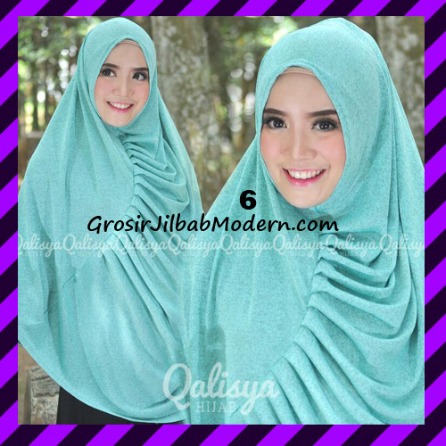 Jilbab Syar'i Khimar Rafa Non Pet Jacquard Original Qalisya Brand No 6