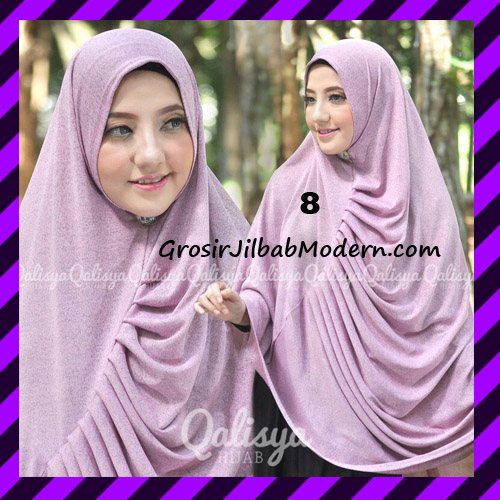 Jilbab Syar'i Khimar Rafa Non Pet Jacquard Original Qalisya Brand No 8