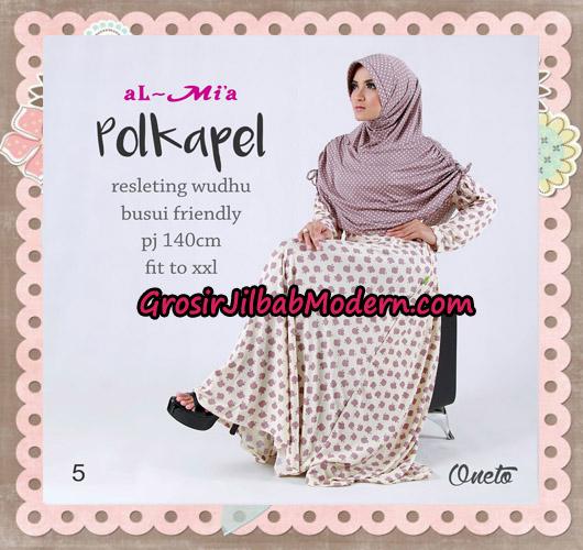 Gamis Jilbab Instant Terbaru Polkapel Original By Almia ( Al-Mi'a Brand ) No 5
