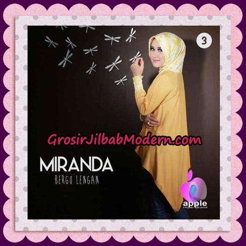 Jilbab Bergo Lengan Modis Premium Miranda Original By Apple Hijab Brand No 3