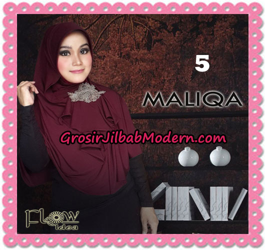 Jilbab Bergo Modis Syria Maliqa Original By Flow Idea No 5 Marun
