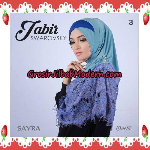 Jilbab Cantik Terbaru Jabir Swarovsky Original By Sayra No 3