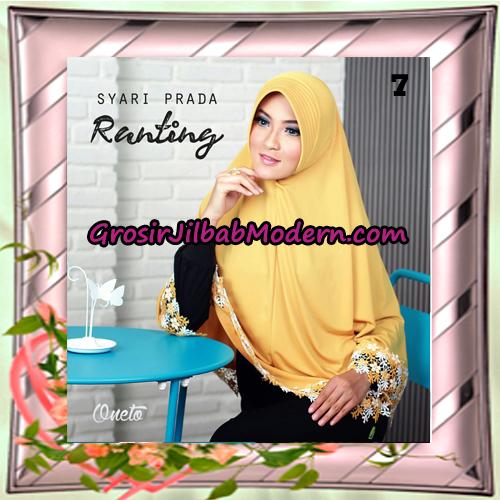 Jilbab Instant Bergo Syar'i Prada Ranting Support By Oneto Hijab No 7