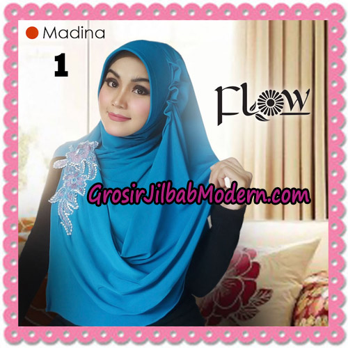 Jilbab Instant Bergo Syria Madina Trendy Original By Flow Idea Brand No 1 Biru Tosca