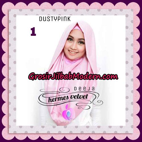 Jilbab Instant Deeja Hermes Velvet Modis Original By Apple Hijab Brand No 1 Dusty Pink
