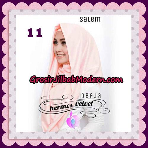 Jilbab Instant Deeja Hermes Velvet Modis Original By Apple Hijab Brand No 11 Salem