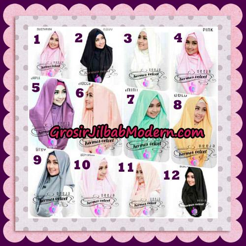 Jilbab Instant Deeja Hermes Velvet Modis Original By Apple Hijab Brand Series