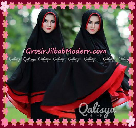 Jilbab Instant Khimar Syar'i Shakila XXL Pet Original By Qalisya Brand Hitam