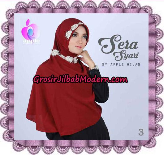 Jilbab Instant Sera Syar'i Cantik Original By Apple Hijab Brand No 3 Maroon