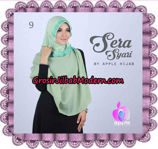 Jilbab Instant Sera Syar'i Cantik Original By Apple Hijab Brand No 9 Mint