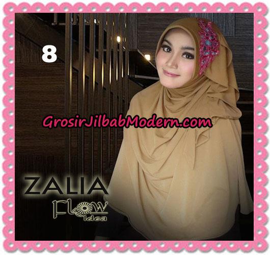 Jilbab Instant Syria Pet Zalia Original By Flow Idea NO 8 Coklat