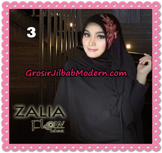Jilbab Instant Syria Pet Zalia Original By Flow Idea No 3 Hitam