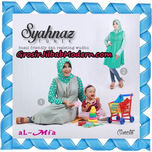Jilbab Lengan Busui Friendly Tunik Syahnaz Original By Almia ( Al-Mi'a Brand ) No 1 & 2