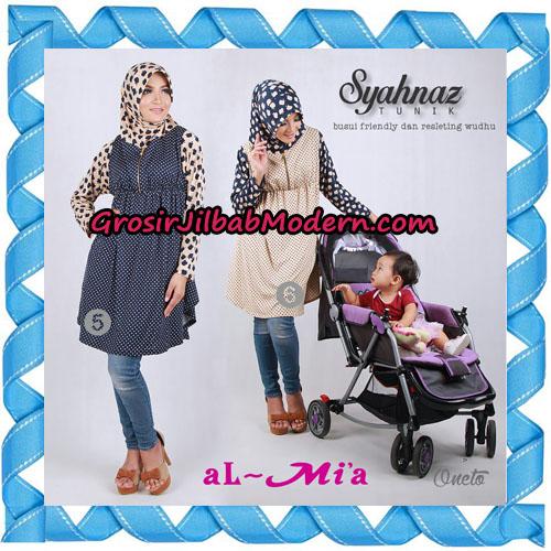 Jilbab Lengan Busui Friendly Tunik Syahnaz Original By Almia ( Al-Mi'a Brand ) No 5 & 6