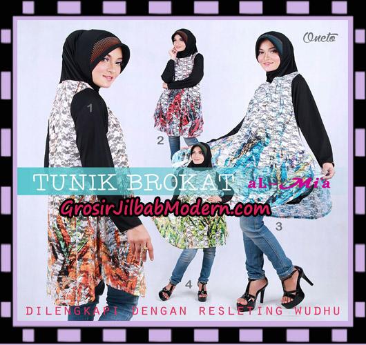Jilbab Lengan Unik Tunik Brukat Cantik Original By Almia ( Al-Mi'a Brand )