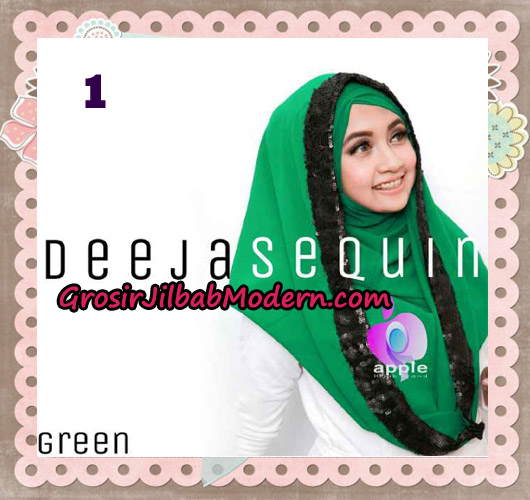 Jilbab Modern Instant Cantik Deeja Sequin Original By Apple Hijab Brand No 1 Green