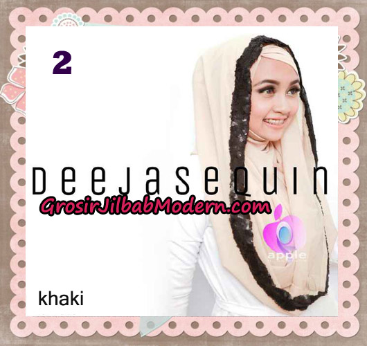 Jilbab Modern Instant Cantik Deeja Sequin Original By Apple Hijab Brand No 2 Khaki