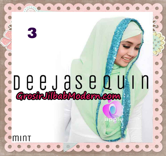 Jilbab Modern Instant Cantik Deeja Sequin Original By Apple Hijab Brand No 3 Mint