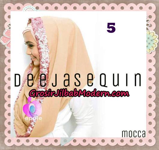 Jilbab Modern Instant Cantik Deeja Sequin Original By Apple Hijab Brand No 5 Mocca