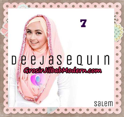Jilbab Modern Instant Cantik Deeja Sequin Original By Apple Hijab Brand No 7 Salem