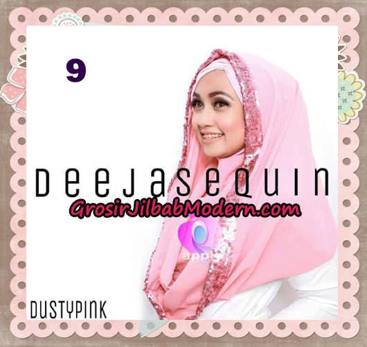 Jilbab Modern Instant Cantik Deeja Sequin Original By Apple Hijab Brand No 9 Dusty Pink
