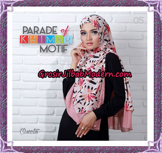 Jilbab Parade Of Khimar Motif Tanpa Pet Support By Oneto No 5