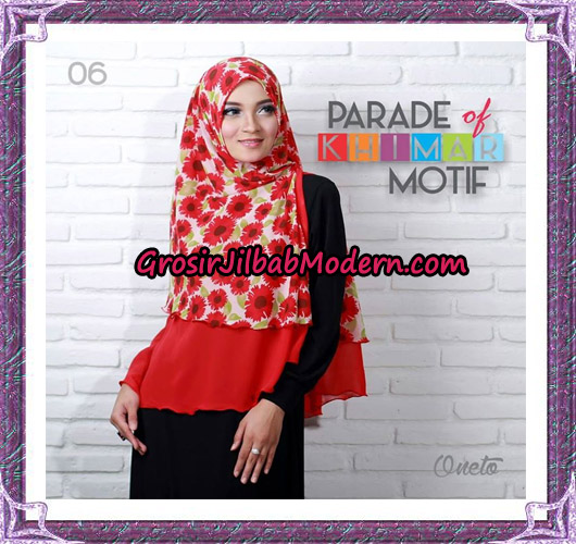 Jilbab Parade Of Khimar Motif Tanpa Pet Support By Oneto No 6