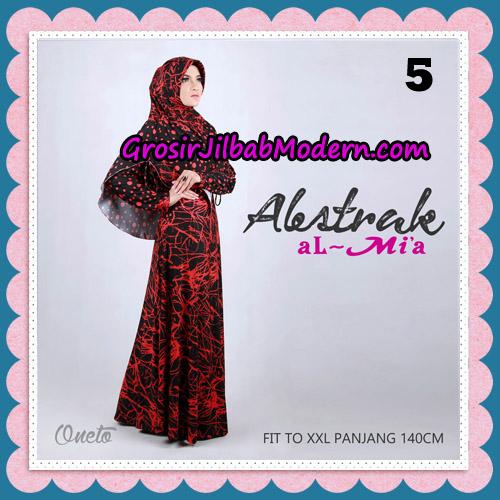 Gamis Setelan Abstrak Cantik Original By Almia ( Al-Mi'a Brand ) No 5