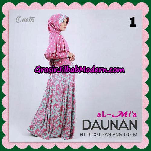 Gamis Setelan Daunan Cantik Original By Almia ( Al-Mi'a Brand ) No 1