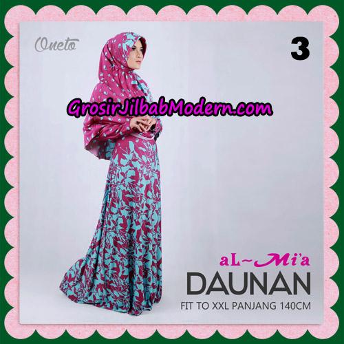 Gamis Setelan Daunan Cantik Original By Almia ( Al-Mi'a Brand ) No 3