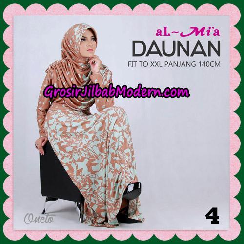 Gamis Setelan Daunan Cantik Original By Almia ( Al-Mi'a Brand ) No 4