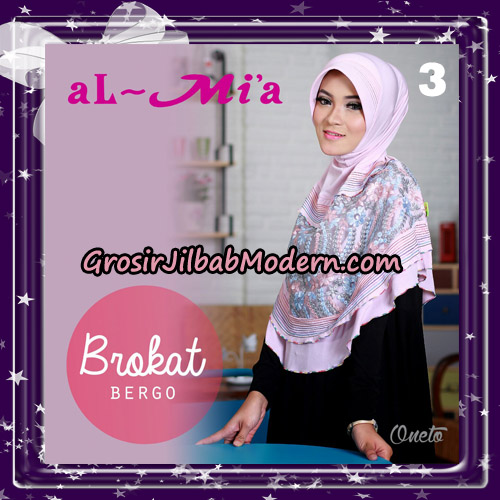 Jilbab Brokat Bergo Almia Cantik Original By Almia ( Al-Mi'a Brand ) No 3