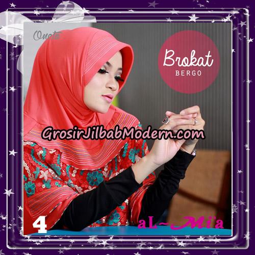 Jilbab Brokat Bergo Almia Cantik Original By Almia ( Al-Mi'a Brand ) No 4