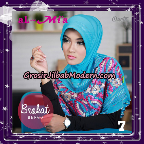 Jilbab Brokat Bergo Almia Cantik Original By Almia ( Al-Mi'a Brand ) No 7