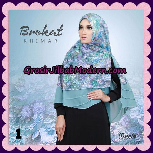 Jilbab Instant Khimar Brokat Cantik Support By Oneto Hijab No 1