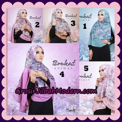Jilbab Instant Khimar Brokat Cantik Support By Oneto Hijab Series