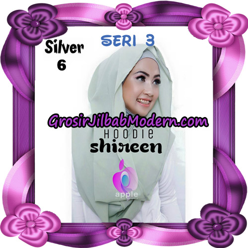 Jilbab Instant Modis Shireen Hoodie Seri 3 Original By Apple Hijab Brand No 6 Silver